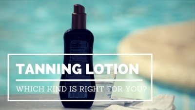 Tanning Lotion Bottle by a Swimming Pool